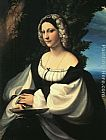 correggio Paintings - Portrait of a Gentlewoman