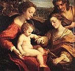 correggio Paintings - The Mystic Marriage of St. Catherine