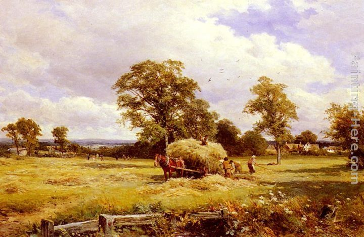David Bates A Warwickshire Hayfield