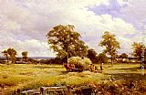 David Bates A Warwickshire Hayfield painting