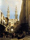 David Roberts A View in Cairo painting