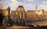 David Roberts The Forum, Rome painting