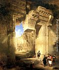 David Roberts The Gateway of the Great Temple at Baalbec painting