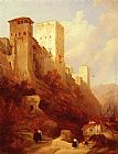 David Roberts Tower Of Comaris, Alhambra, Granada painting