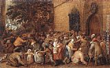 David Vinckbooms Distribution of Loaves to the Poor painting