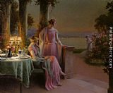 Delphin Enjolras Elegant Ladies Taking Tea painting