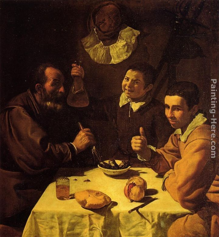 Diego Rodriguez de Silva Velazquez Three Men at a Table