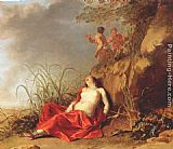 Dirck van der Lisse Sleeping Nymph painting
