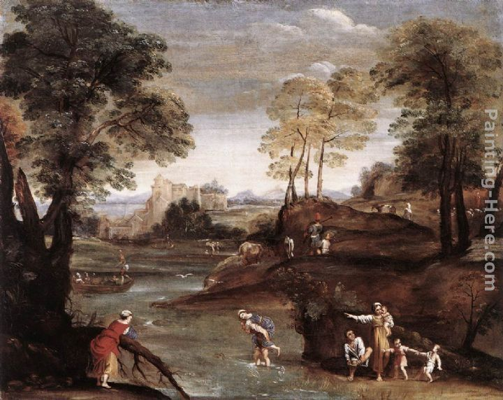 Domenichino Landscape with Ford