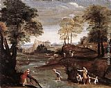 Domenichino Landscape with Ford painting