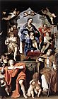 Domenichino Madonna and Child with St Petronius and St John the Baptist painting