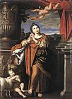 Domenichino Saint Agnes painting