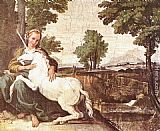 Domenichino The Maiden and the Unicorn painting