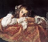 Domenico Feti Sleeping Girl painting
