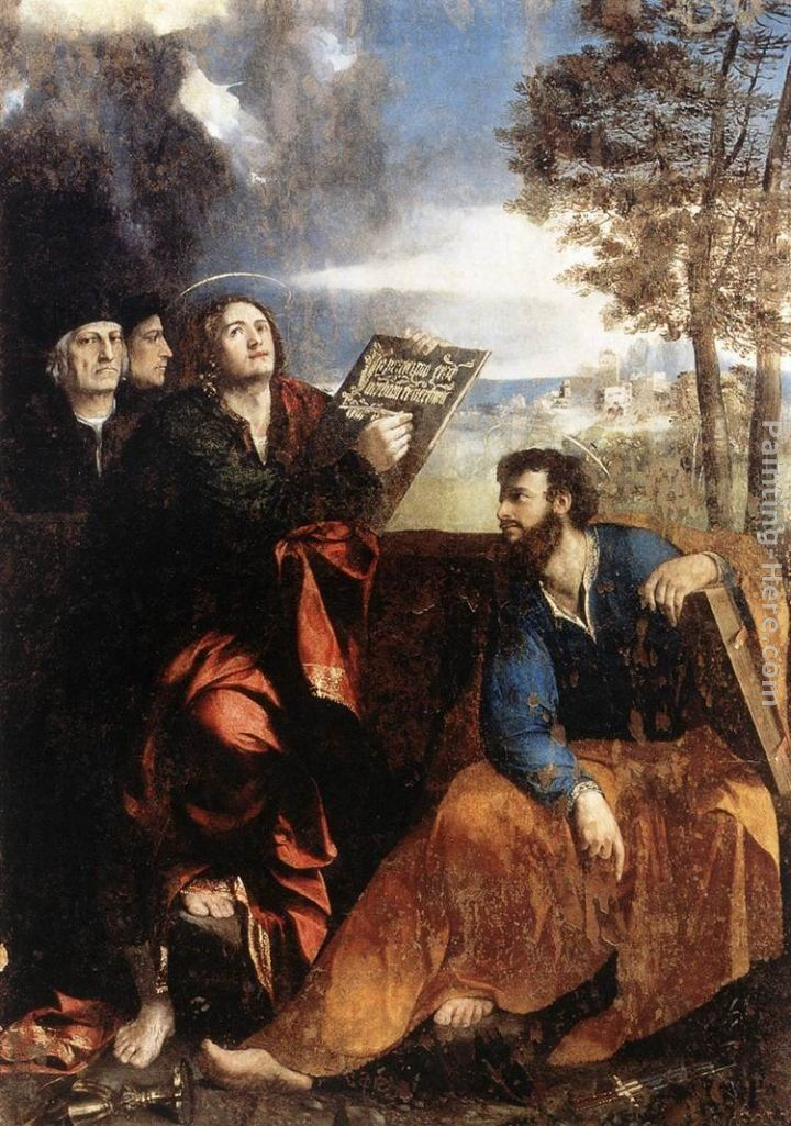 Dosso Dossi Sts John and Bartholomew with Donors