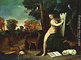Dosso Dossi Circe and her Lovers in a Landscape painting