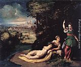 Dosso Dossi Diana and Calisto painting