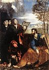 Dosso Dossi Sts John and Bartholomew with Donors painting