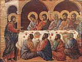 Duccio di Buoninsegna Appearence While the Apostles are at Table painting