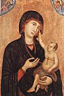 Duccio di Buoninsegna Madonna with Child and Two Angels (Crevole Madonna) painting
