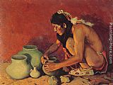 Eanger Irving Couse The Pottery Maker painting