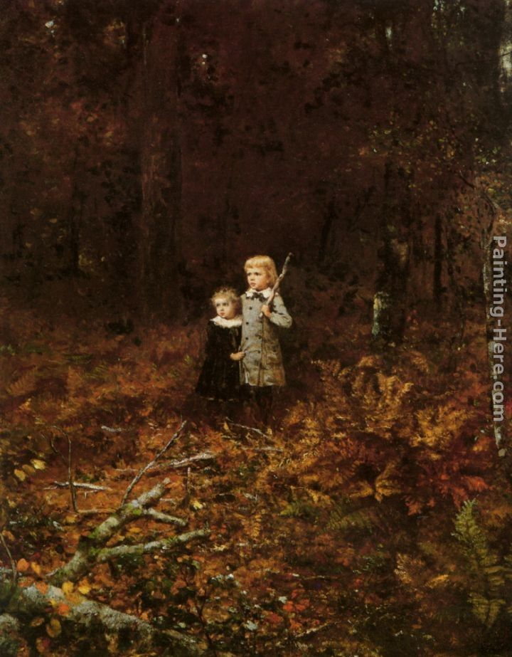 Eastman Johnson Babies In The Woods