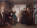 Eastman Johnson The New Bonnet painting