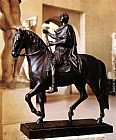 statue of liberty Canvas Prints - Equestrian statue of Louis XV
