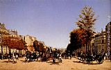 Edmond Grandjean View Of The Champs-Elysees From The Place De L'Etoile painting