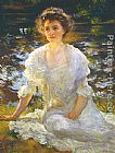 Edmund Charles Tarbell Portrait of Elanor Hyde Phillips painting