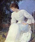 Edmund Charles Tarbell Portrait of a Woman in white painting