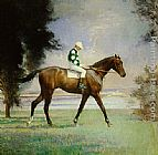 Edmund Charles Tarbell Thoroughbred with Jockey up painting