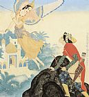 Edmund Dulac Peri Banu and Prince Achmed painting
