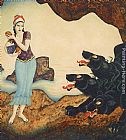 Edmund Dulac Psyche and Cerberus painting