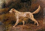 Edmund Henry Osthaus Commissioner, A Champion English Setter painting