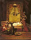 Edouard Frederic Wilhelm Richter In the Harem painting