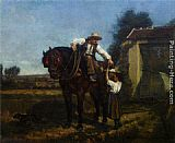 Edouard Frere The Ploughmans Lunch painting