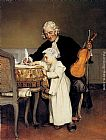 Eduard Charlemont The Music Lesson painting