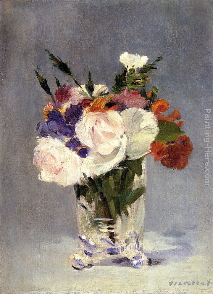 Eduard Manet Flowers In A Crystal Vase Painting Ipaintingsforsale