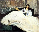 Eduard Manet Baudelaire's Mistress Reclining painting
