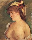 Eduard Manet Blonde Woman with Bare Breasts painting