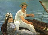 Eduard Manet Boating painting
