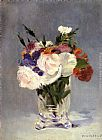 Eduard Manet Flowers In A Crystal Vase painting