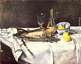 Eduard Manet The Salmon painting