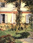 Eduard Manet The house at Rueil painting