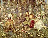 Edward Atkinson Hornel Music of the Woods painting