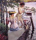 Edward Cucuel The Bathing Place painting
