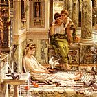 Edward John Poynter Corner Of The Villa painting
