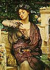 Edward John Poynter Lesbia and her Sparrow painting