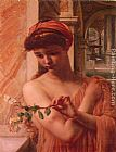 Edward John Poynter Psyche in the temple of love painting